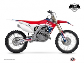 Honda 450 CRF Dirt Bike Stage Graphic Kit Blue Red LIGHT