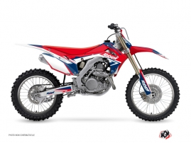 Honda 450 CRF Dirt Bike Stage Graphic Kit Blue Red