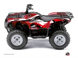 Yamaha 450 Grizzly ATV Stage Graphic Kit Black Red