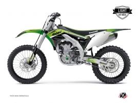 Kawasaki 450 KXF Dirt Bike Stage Graphic Kit Green LIGHT