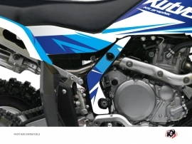 Graphic Kit Frame protection ATV Stage Suzuki 450 LTR Blue x3