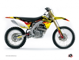 Suzuki 450 RMZ Dirt Bike Stage Graphic Kit Yellow Red