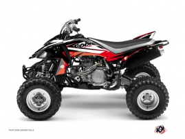 Yamaha 450 YFZ ATV Stage Graphic Kit Black Red