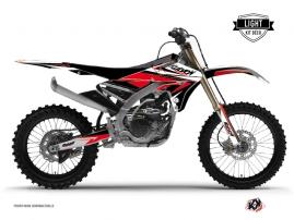 Yamaha 450 YZF Dirt Bike Stage Graphic Kit Black Red LIGHT