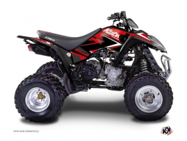 Kymco 50 MAXXER ATV Stage Graphic Kit Red Black