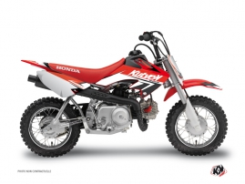 Honda 50 CRF Dirt Bike Stage Graphic Kit Red