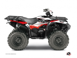 Yamaha 700-708 Grizzly ATV Stage Graphic Kit Black Red