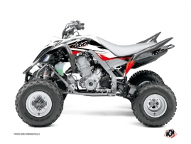 Yamaha 700 Raptor ATV Stage Graphic Kit Black Red