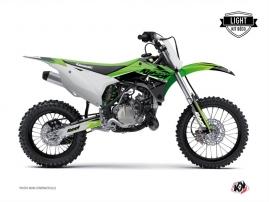 Kawasaki 85 KX Dirt Bike Stage Graphic Kit Green LIGHT