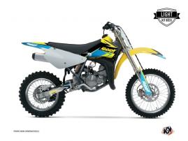 Suzuki 85 RM Dirt Bike Stage Graphic Kit Yellow Blue LIGHT