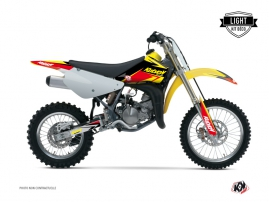 Suzuki 85 RM Dirt Bike Stage Graphic Kit Yellow Red LIGHT