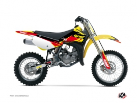 Suzuki 85 RM Dirt Bike Stage Graphic Kit Yellow Red