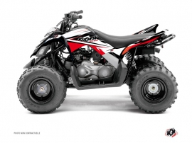Yamaha 90 Raptor ATV Stage Graphic Kit Black Red