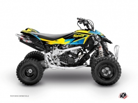 Can Am DS 90 ATV Stage Graphic Kit Yellow Blue