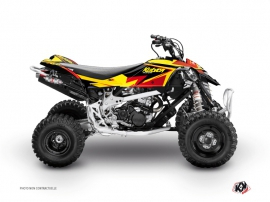 Can Am DS 90 ATV Stage Graphic Kit Yellow Red