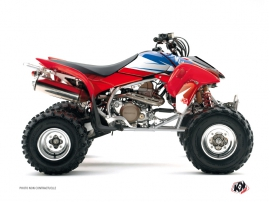 Honda EX 400 ATV Stage Graphic Kit Blue Red