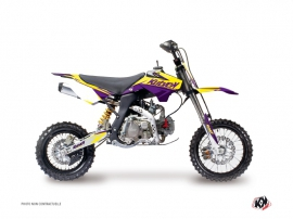 Kit Déco Moto Cross Stage YCF F125 Jaune Violet