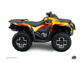 Can Am Outlander 400 XTP ATV Stage Graphic Kit Yellow Red