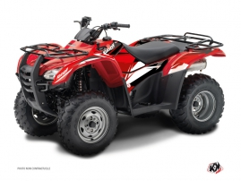 Honda Rancher 420 ATV Stage Graphic Kit Black Red