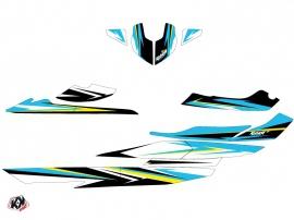 Seadoo RXT-GTX Jet-Ski Stage Graphic Kit Yellow Blue