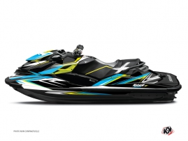 Seadoo RXT-GTX Jet-Ski Stage Graphic Kit Yellow Blue