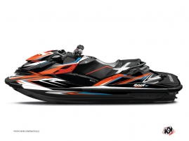 Seadoo RXT-GTX Jet-Ski Stage Graphic Kit Orange Blue