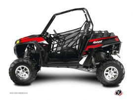 Polaris RZR 570 UTV Stage Graphic Kit Black Red