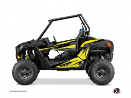 Polaris RZR 900 S UTV Stage Graphic Kit Black Yellow