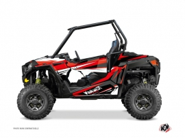 Polaris RZR 900 S UTV Stage Graphic Kit Black Red