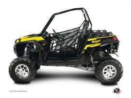 Polaris RZR 900 XP UTV Stage Graphic Kit Black Yellow