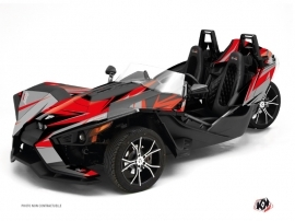 Polaris Slingshot Roadster Stage Graphic Kit Grey Red