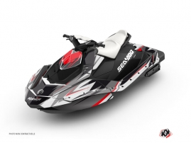 Seadoo Spark Jet-Ski Stage Graphic Kit Grey Red