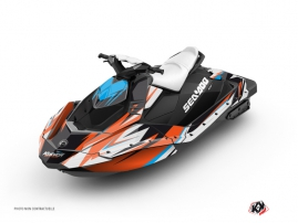 Seadoo Spark Jet-Ski Stage Graphic Kit Orange Blue