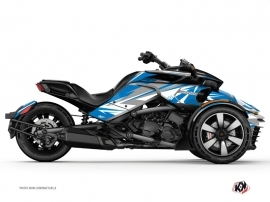 Can Am Spyder F3 Roadster Stage Graphic Kit Blue Grey