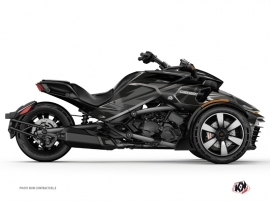 Can Am Spyder F3 Roadster Stage Graphic Kit Black Grey