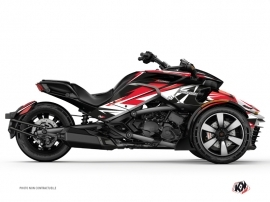 Can Am Spyder F3T Roadster Stage Graphic Kit Red