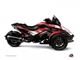 Can Am Spyder RT Roadster Stage Graphic Kit Red