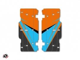 Graphic Kit Radiator guards Stage KTM SX-SXF 2015 Orange Blue