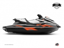 Yamaha VX Jet-Ski Stage Graphic Kit Grey Orange LIGHT