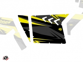 Graphic Kit Doors Suicide XRW Stage UTV Polaris RZR 570/800/900 2008-2014 Black Yellow