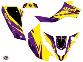 Suzuki Z 50 ATV Stage Graphic Kit Yellow Purple