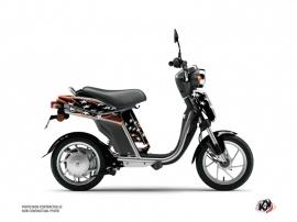 Yamaha Eco-3 Scooter Stars Graphic Kit Orange