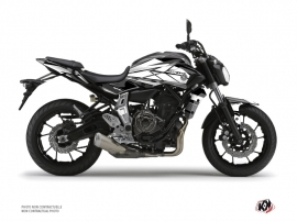 Yamaha MT 07 Street Bike Steel Graphic Kit Black White