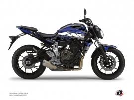 Kit Déco Moto Steel Yamaha MT 07 Noir Bleu