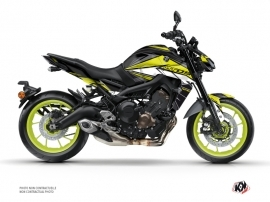 Yamaha MT 09 Street Bike Steel Graphic Kit Black Yellow