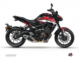 Yamaha MT 09 Street Bike Steel Graphic Kit Black Red