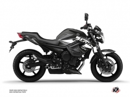 Yamaha XJ6 Street Bike Steel Graphic Kit Black White