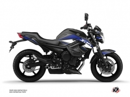 Yamaha XJ6 Street Bike Steel Graphic Kit Black Blue