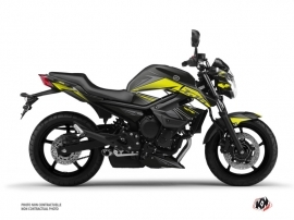 Yamaha XJ6 Street Bike Steel Graphic Kit Black Yellow