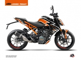 KTM Duke 390 Street Bike Storm Graphic Kit Orange Black